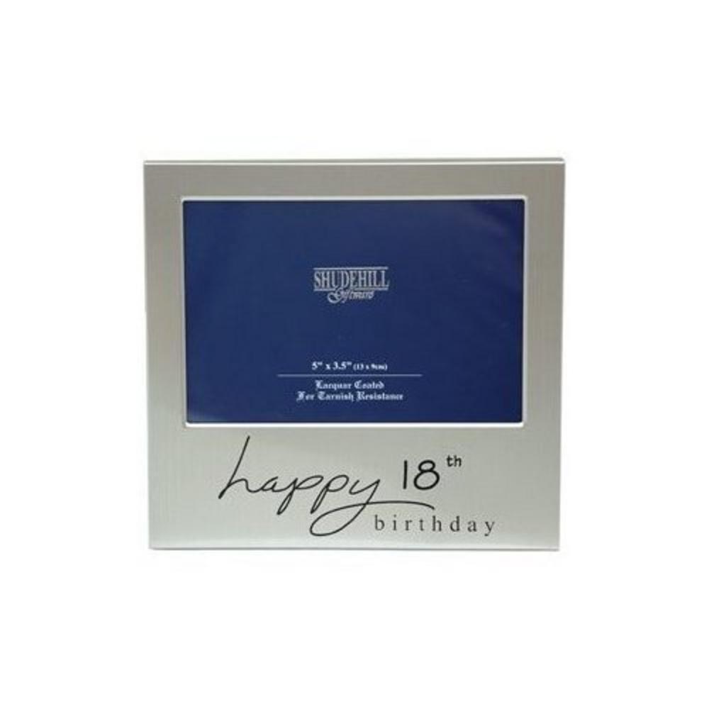 "Happy 18Th Birthday Celebration Picture Photo Frame Gift - 5"" X 3.5"""
