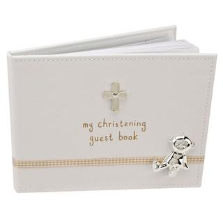 Button Corner My Christening Guest Book With Presentation Box Gift 40 Pages Thumbnail 1