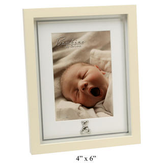 "Bambino By Juliana Mdf Mirror Print Teddy Icon 5"" X 7"" Picture Photo Frame Gift Thumbnail 1"