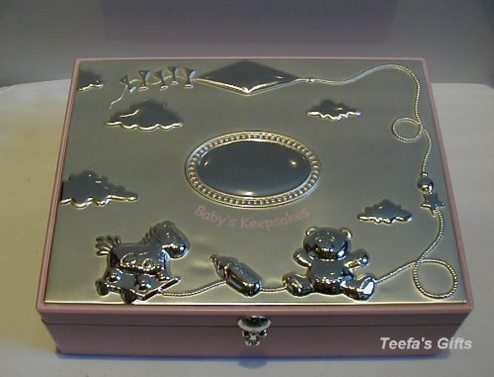 Pink Keepsake Box For Baby Girls - Store Those Valuable Things Beautifully Gift
