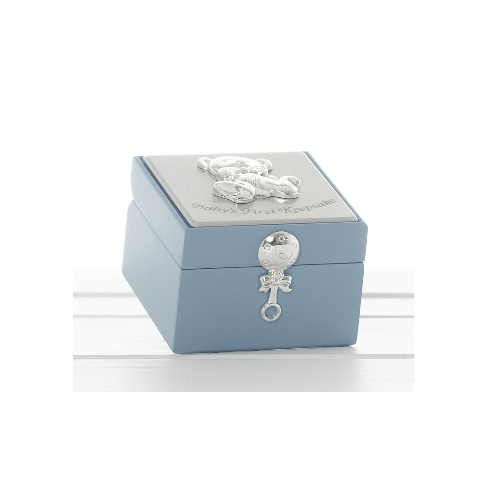 Baby Gift Keepsake Box : Baby boy first keepsake box gift boxed with teddy bear
