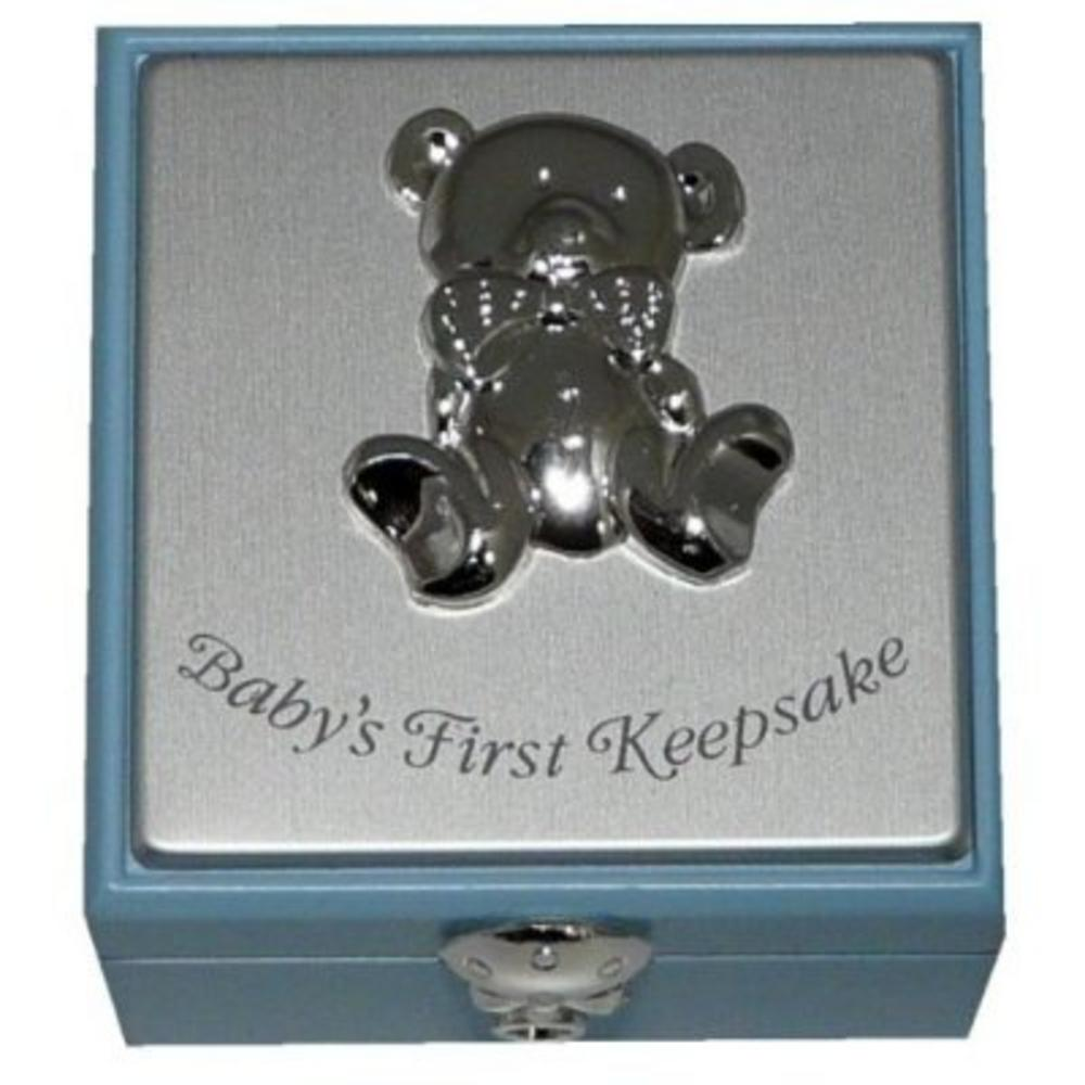 Baby Boy First Keepsake Box Gift Boxed With Teddy Bear