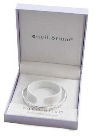 Equililbrium Silver Plated Bangle Live Well Love Much Laugh Often Gift Box Thumbnail 2