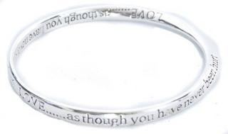Equilibilirum Silver Plated Bangle Gift Box Love As Though You'Ve Never Hurt Thumbnail 2