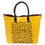 Equilibrium Luxury Square Cut Out Mustard Hand Bag