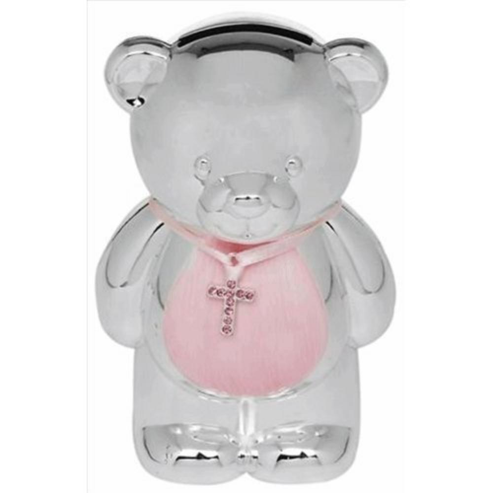 Pink Silver Plated Baby Money Box