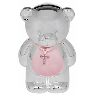 Pink Silver Plated Baby Money Box Thumbnail 1