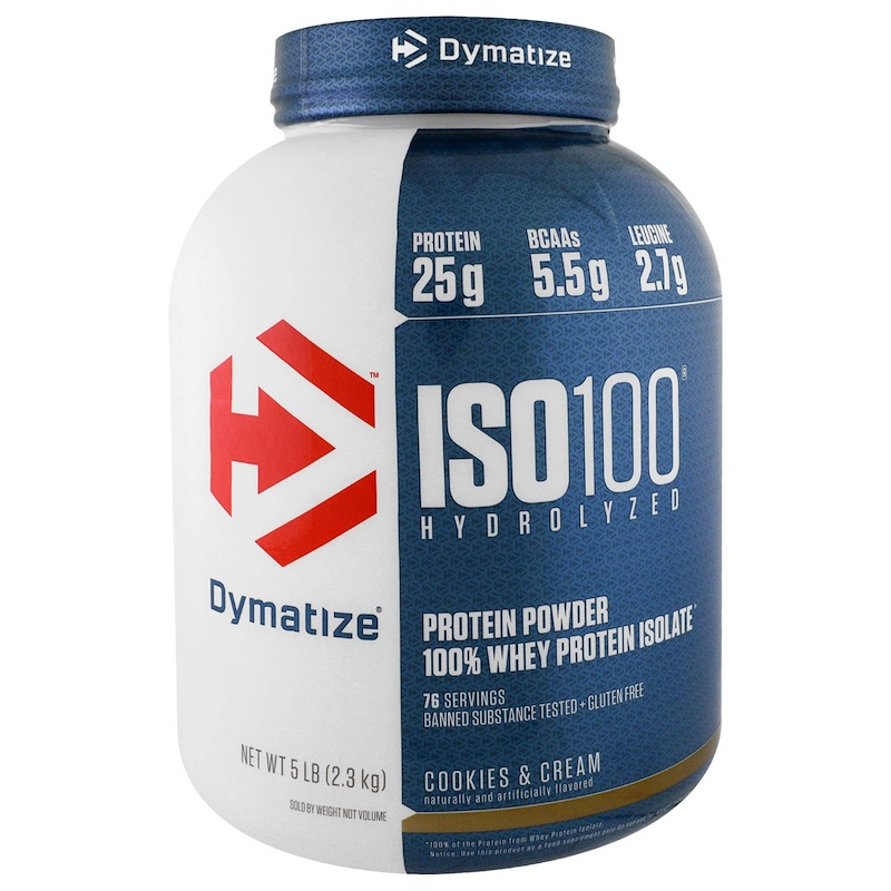 dymatize iso 100 cookies and cream nutrition facts