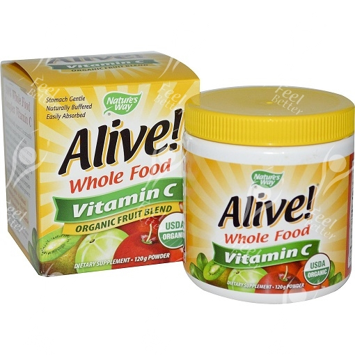 Alive Natural Organic Buffered Vitamin C Powder 120g Ebay