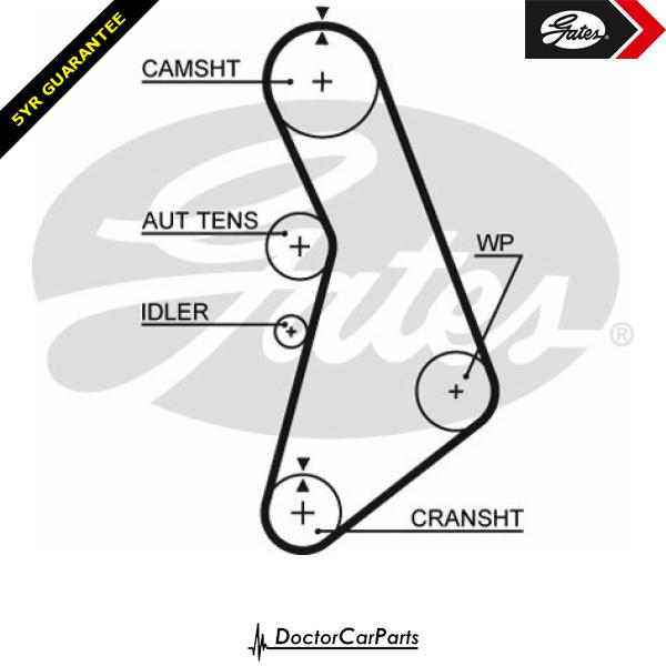 Gates Timing Belt Cam Belt for VW GOLF 1.8 CHOICE2/2 GTI 1J AGN AGU AUQ Mk4