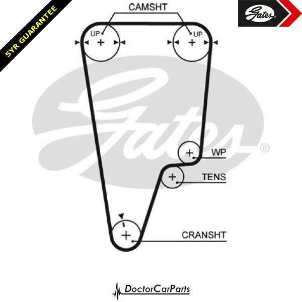 Gates Timing Belt Cam Belt for HONDA CIVIC 1.8 B18C4 MA MB MC 169bhp