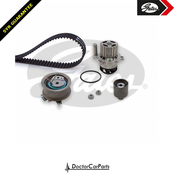 Gates Timing Cam Belt and Water Pump Kit for VW TRANSPORTER 1.9 TDI T5