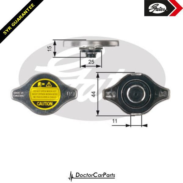 Gates Radiator Cap for MITSUBISHI SHOGUN K90 2.5 3.0 CHOICE1/2 TD 4D56 6G72