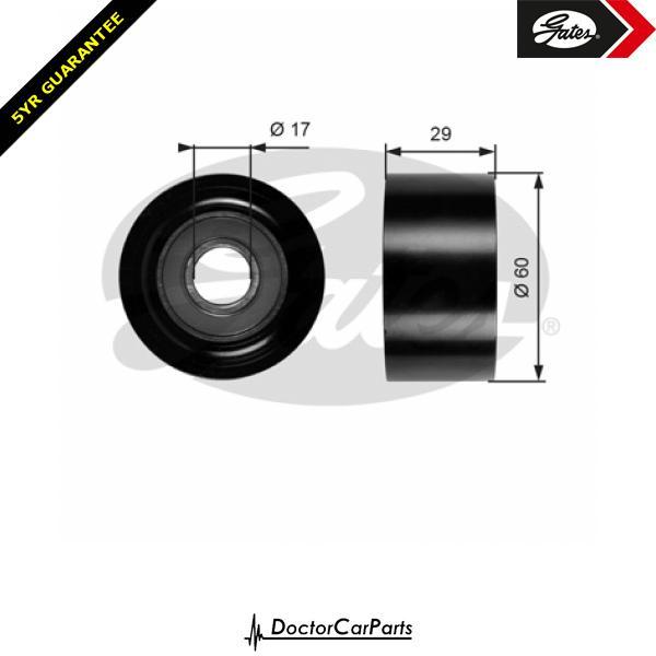 Gates Belt Idler Pulley Alternator for RENAULT LAGUNA 1.8 1.9 2.0 2.2 dCi W/Ac