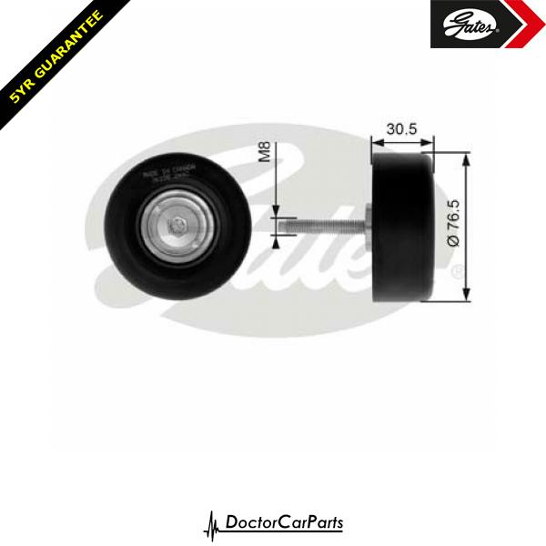 Gates Belt Idler Pulley Alternator for FORD FIESTA 2.0 CHOICE1/2 ST150 N4JB