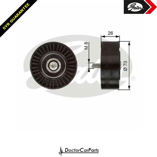 Gates Belt Idler Pulley Alternator for BMW E87 2.0 CHOICE2/2 118d 120d M47