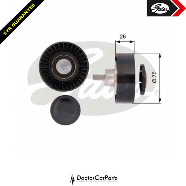 Gates Belt Idler Pulley Alternator for BMW X3 E83 2.5 3.0 CHOICE2/2 M54 XDRIVE