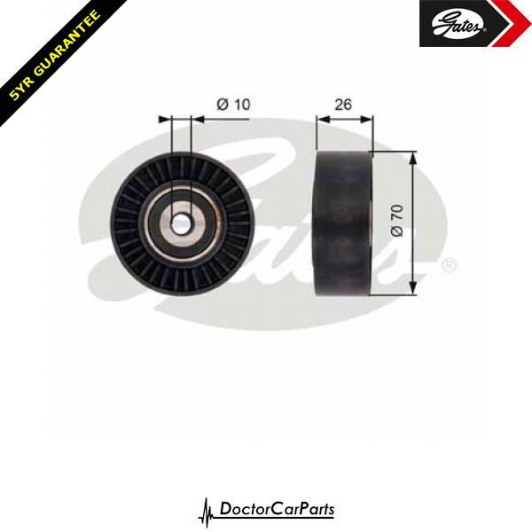 Gates Belt Idler Pulley Alternator for LAND ROVER FREELANDER 2.2 D SD4 TD 224DT