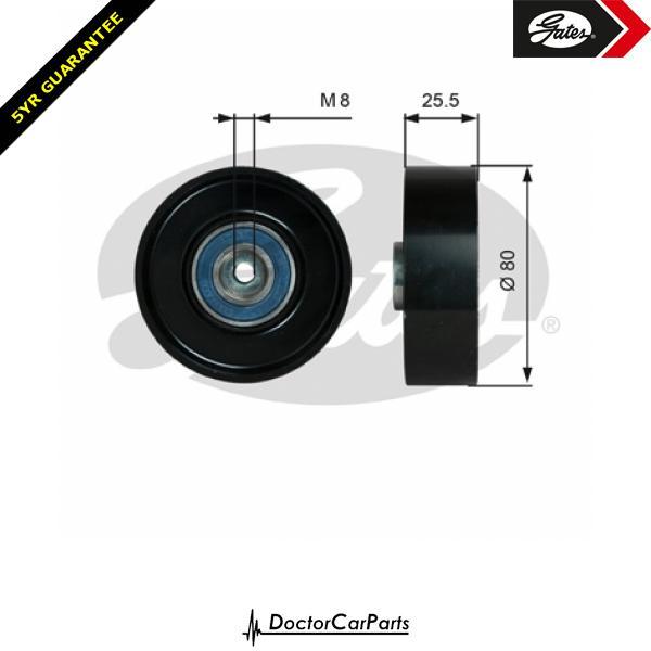 Gates Belt Idler Pulley Alternator for MERCEDES W210 3.0 D TD E300 OM606