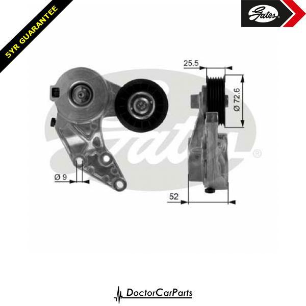 Gates Belt Tensioner Pulley Alternator for AUDI TT 3.2 CHOICE1/2 VR6 8N BHE