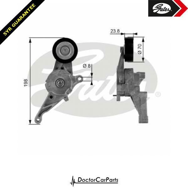 Gates Belt Tensioner Pulley Alternator for VW CARAVELLE 1.9 CHOICE2/2 TDI T5