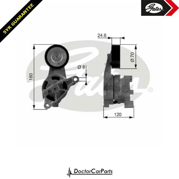 Gates Belt Tensioner Pulley Alternator for AUDI A3 1.9 2.0 CHOICE1/2 TDI 8P