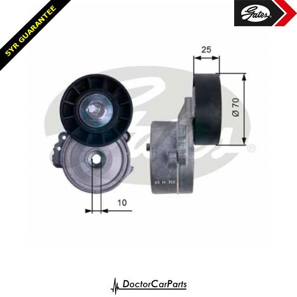 Gates Belt Tensioner Pulley Alternator for FORD GALAXY 2.0 CHOICE1/2 TDCi WA6