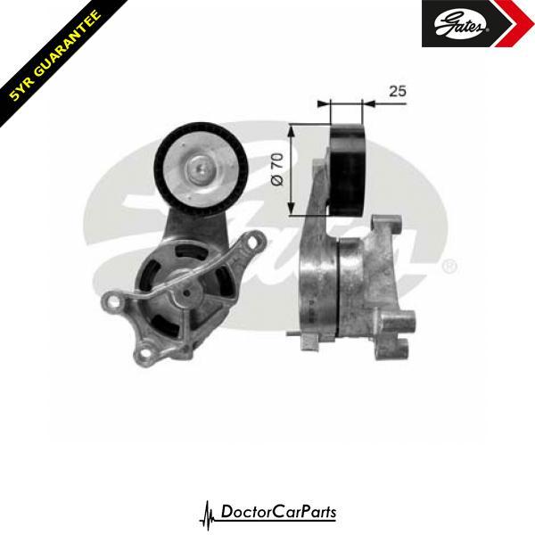 Gates Belt Tensioner Pulley Alternator for VW GOLF 2.0 GTI 1K 5K Mk5 Mk6