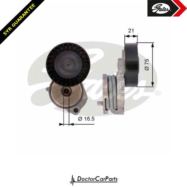 Gates Belt Tensioner Pulley Alternator for FORD MONDEO 2.5 CHOICE1/2 HUBA BA7