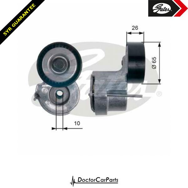 Gates Belt Tensioner Pulley Alternator for SAAB 9-3 1.9 CHOICE2/2 TTID TiD