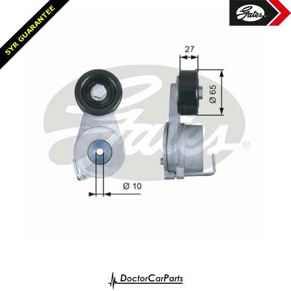 Gates Belt Tensioner Pulley Alternator for HYUNDAI ix35 2.0 CHOICE1/2 CRDi D4HA