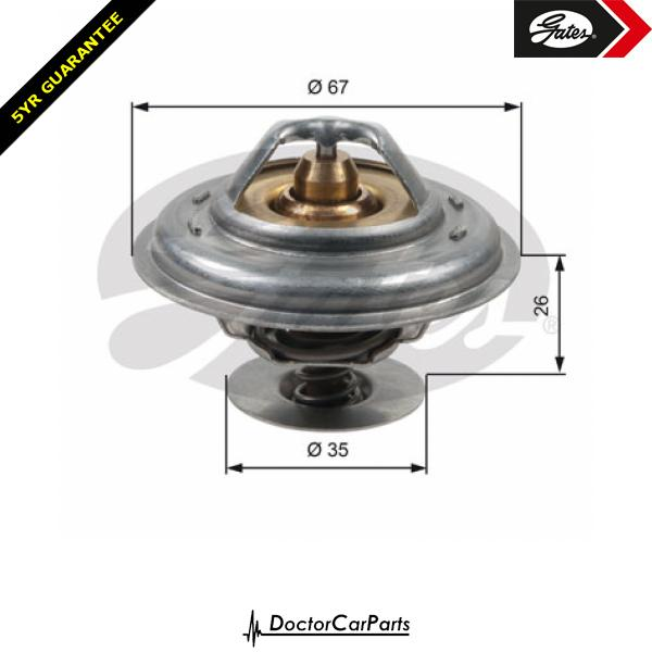 Gates Thermostat for AUDI A6 2.5 TDI C4 AAT AEL 4A 114bhp 116bhp 140bhp
