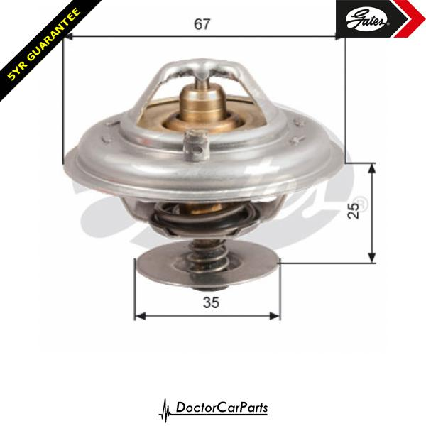 Gates Thermostat for BMW Z3 E36 2.8 CHOICE2/2 M52 192bhp 194bhp