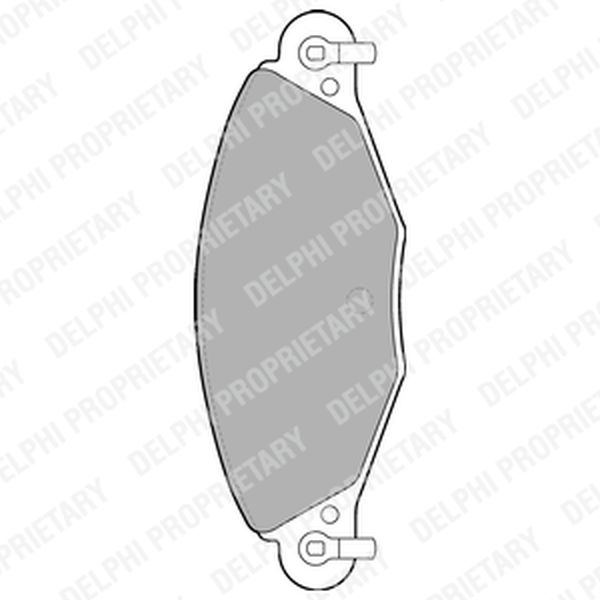 Brake Pads FRONT C5 LP1655 Clearance Item
