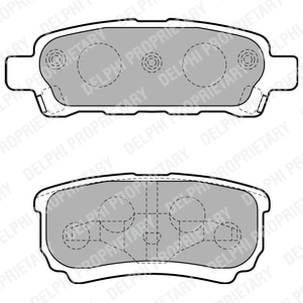 Brake Pads REAR LP1852 Clearance Item
