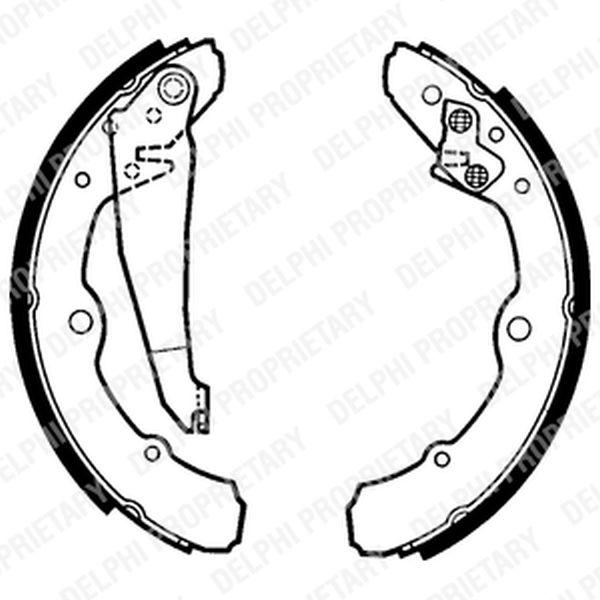 Brake Shoes Caddy Golf Jetta 100 80 90 LS1317 Clearance Item