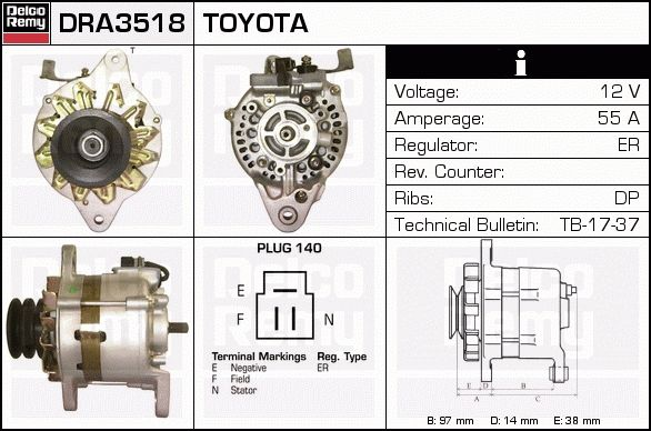 DRA3518 toyota hilux alternator wiring diagram ford mustang alternator toyota hilux alternator wiring diagram at reclaimingppi.co