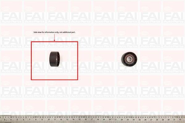 Belt Idler Pulley for NISSAN KUBISTAR 1.6 K4M 752 Petrol FAI