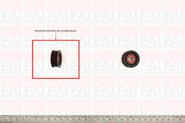 Belt Idler Pulley for MERCEDES VITO 119/122 3.2 M112 Petrol FAI