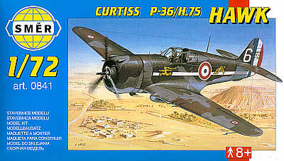 SMER 1//72 Curtiss p-36//h.75 Hawk # 0841