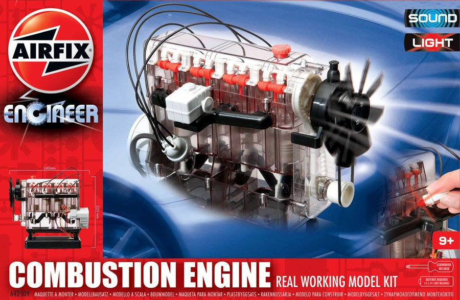 Airfix Engineer Combustion Engine Real Working Model Kit A42509 Ebay