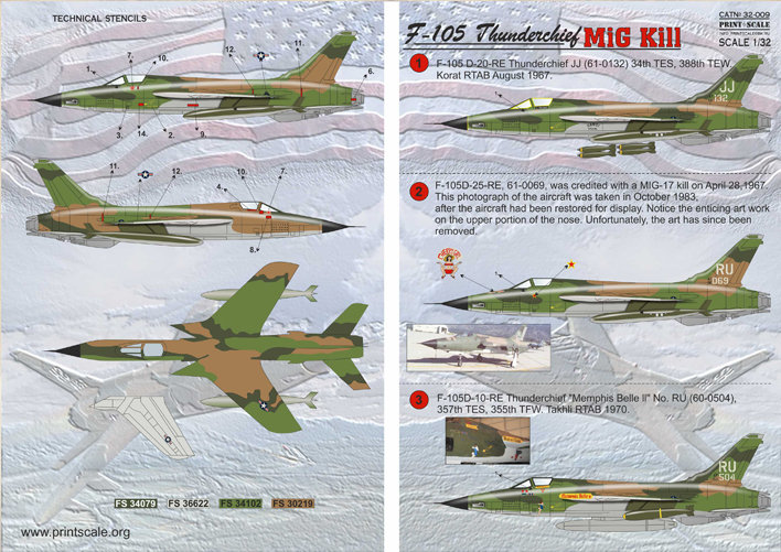 Print Scale 1 32 Republic F 105d Thunderchief Mig Killers 32009 Ebay