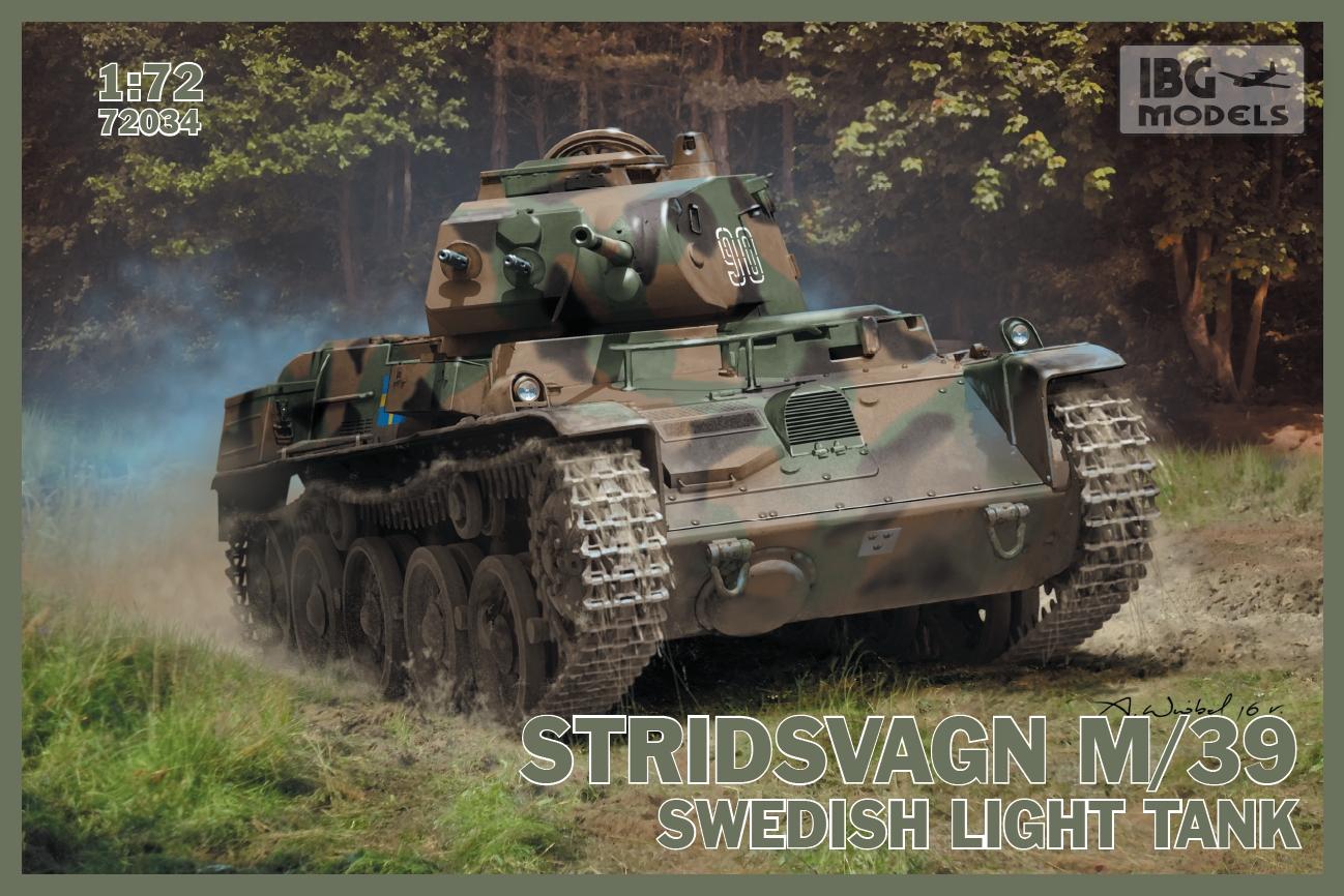 Sentinel IBG 1/72 Stridsvagn M/39 Swedish Light Tank # 72034