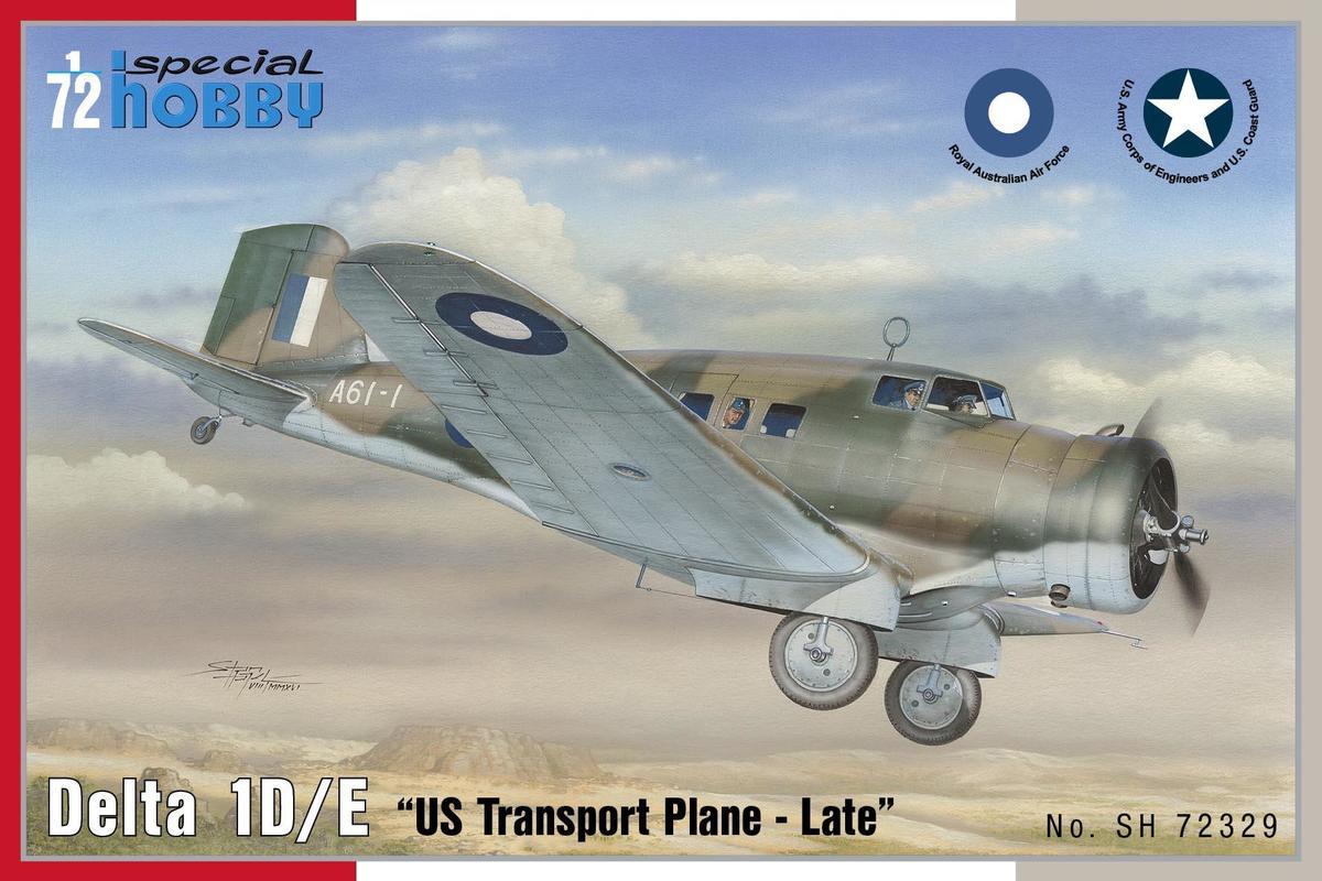 "SPECIAL HOBBY 1//72 Delta 1D//E /""US avion de transport-late/"" # 72329"