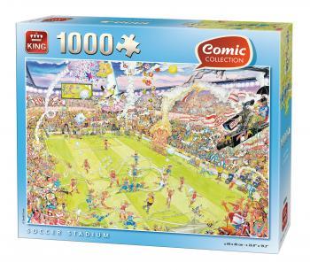 1000 Sammlung Fussball Comic 05546 Puzzle Stadium Fussball