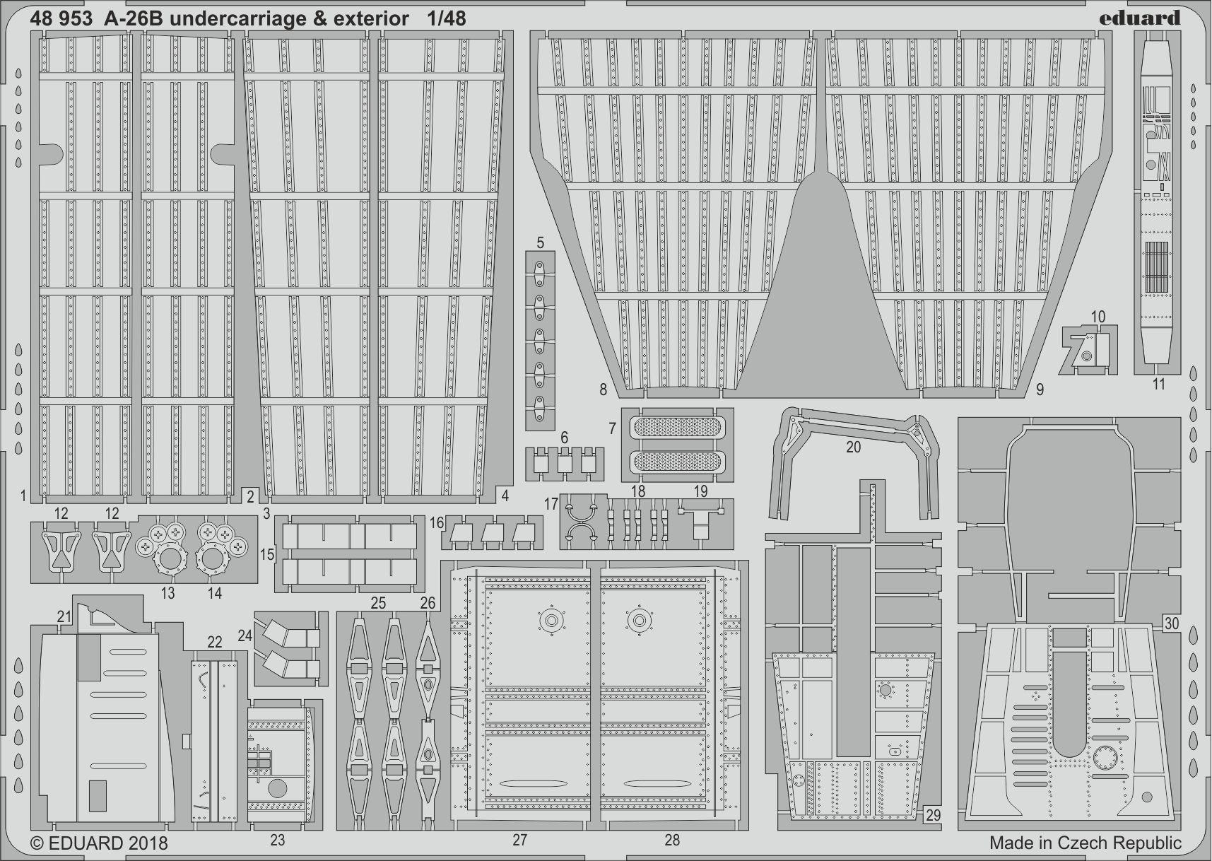 Eduard 1//48 Douglas A-26B Invader Detailing Set # FE896