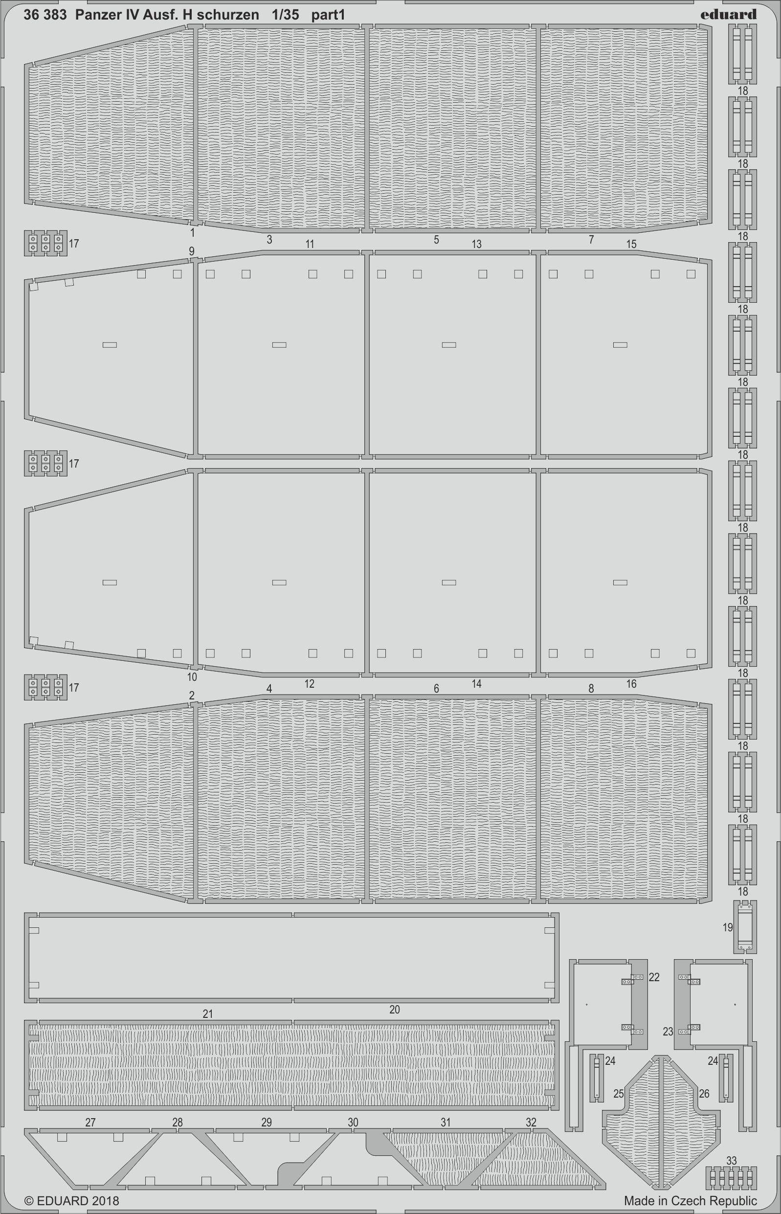Eduard 1 35 Pz.Kpfw.IV Ausf.H Schurzen