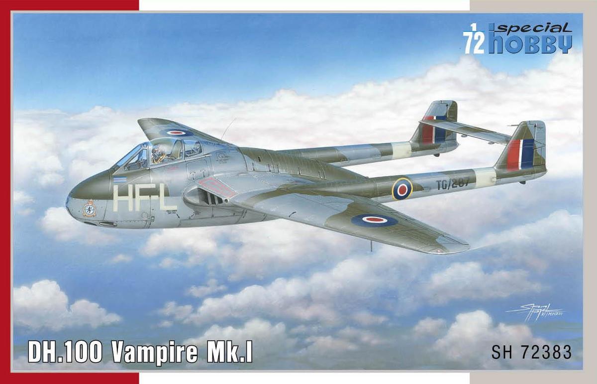 I # 72339 Special Hobby 1//72 de Havilland DH.100 Vampire Mk