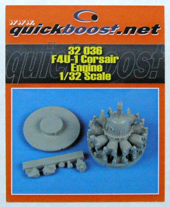 scala 1:32 ;  F4U-1D Corsair Engine Quickboost QB32036 TRUMPETER