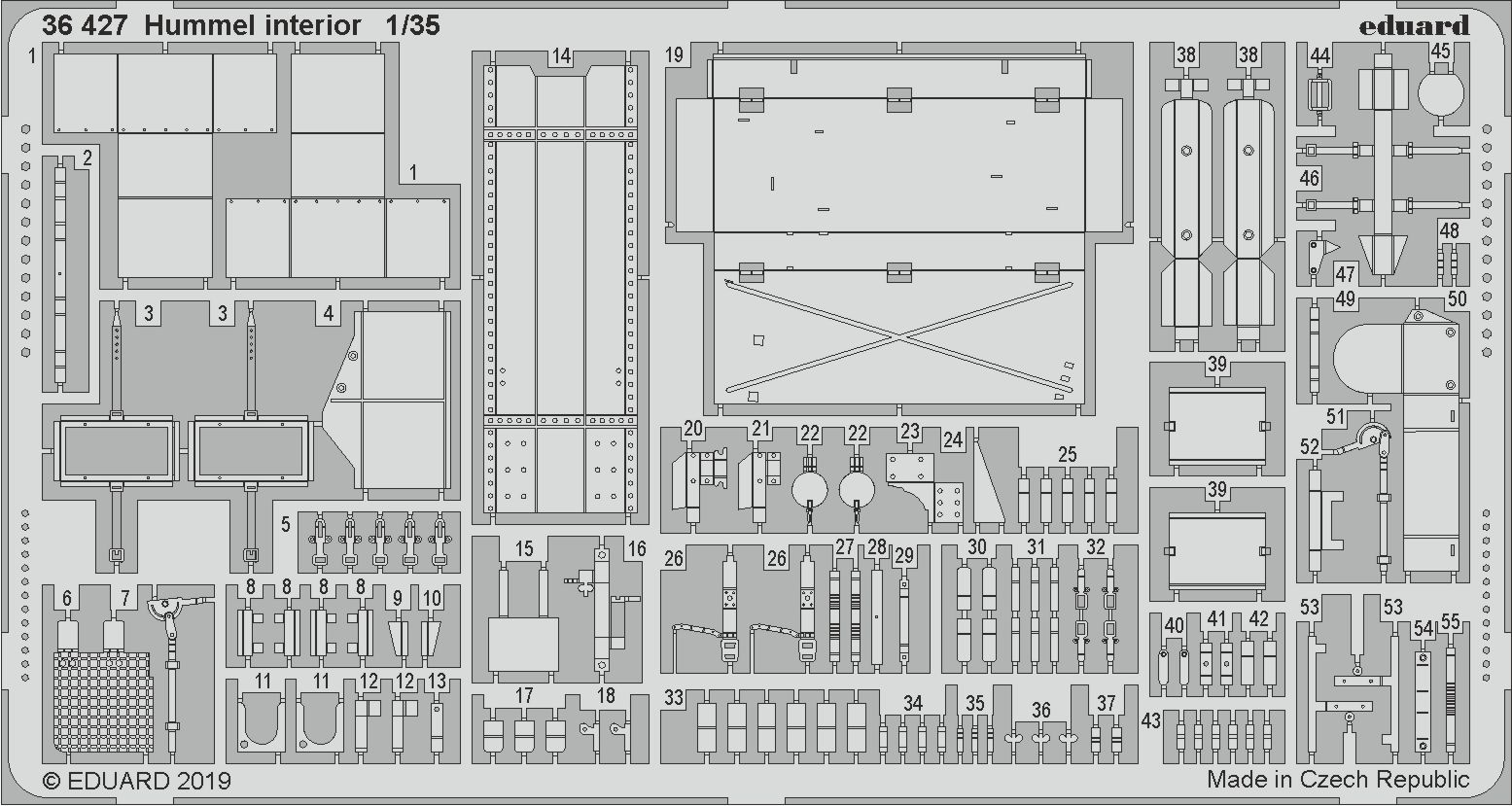 Eduard PE 36429 1//35 Hummel ammunion boxes TAMIYA Late Production